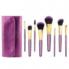 Makeup Brush Set with Bag, Wolady Professional Blush Foundation Lash Lip Large Powder Contour Eye Shadow Eyebrow Brushes Kit Cosmetics 8pcs
